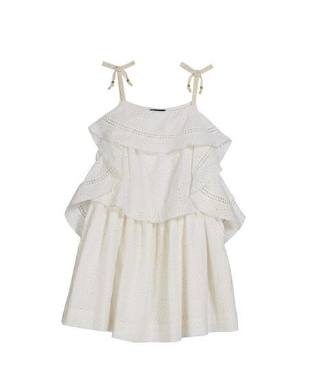 Velveteen Lois Princess Frill Dress, Size 8-10