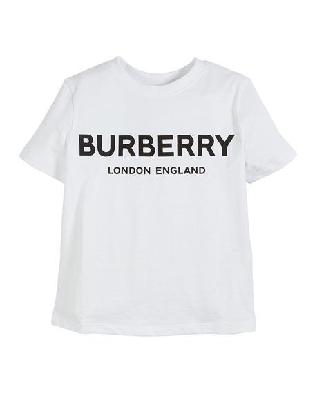 Burberry Robbie Cotton Logo Tee, Size 3-14