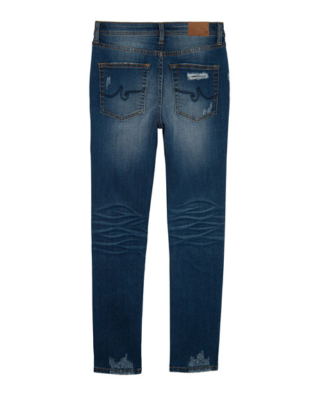 AG Boys' Kingston Skinny Slim Distressed Denim Jeans, Size 4-7