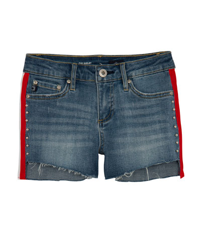 Girls' Brezlyn High-Low Shorts w/ Side Taping  Size 7-14