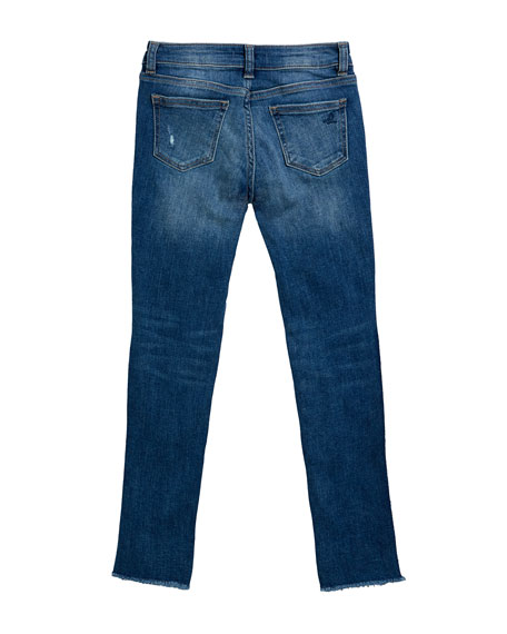 DL1961 Premium Denim Chloe Raw Hem Denim Skinny Jeans, Size 7-16