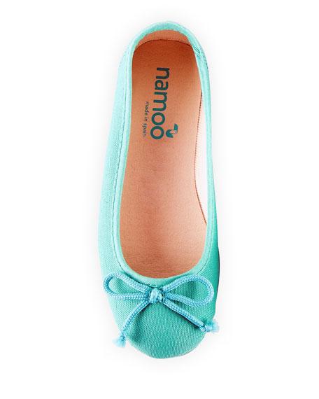 Namoo Cotton Canvas Ballerina Flats, Toddler/Kids