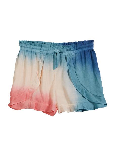 Splendid Voile Tie Dye Shorts, Size 7-14