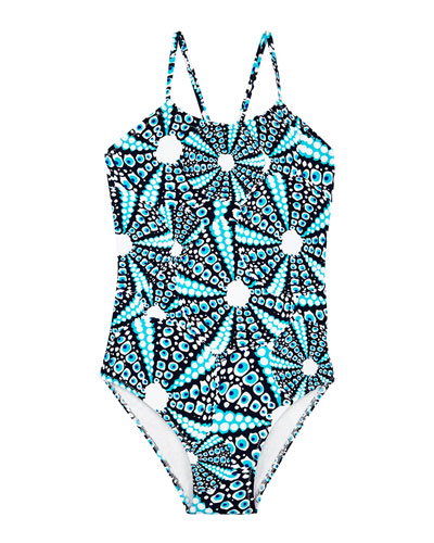 Gazette Printed One-Piece Swimsuit  Size 2-14