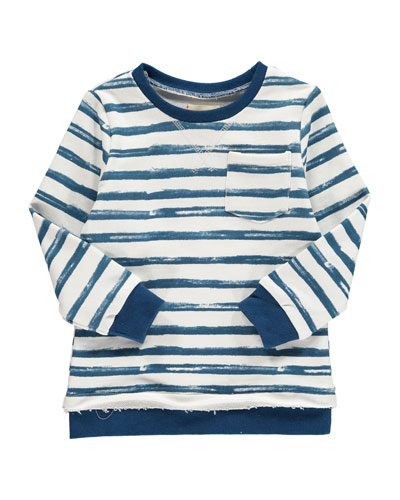 Hand Painted Stripe Sweatshirt w/ Children's Book  Size 2T-10