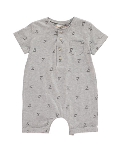 Logo Print Shortall w/ Children's Book  Size 0-24 Months