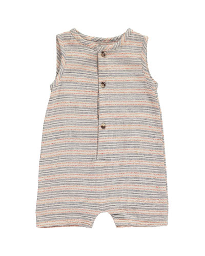 Striped Woven Playsuit w/ Children's Book  Size 0-24 Months