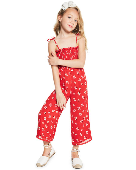 Bardot Junior Ali Floral Smocked Jumpsuit, Size 8-16