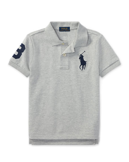 Image 1 of 2: Ralph Lauren Childrenswear Big Pony Pique Knit Polo, Size 4-7
