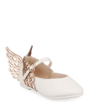 Sophia Webster Evangeline Leather Butterfly-Wing Flats bc8f22733170