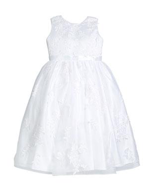 b5b22ad5ab Joan Calabrese Lace Overlay Tea Length Dress