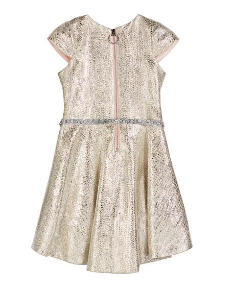 Zoe Sabine Metallic High-Low Dress, Size 7-16