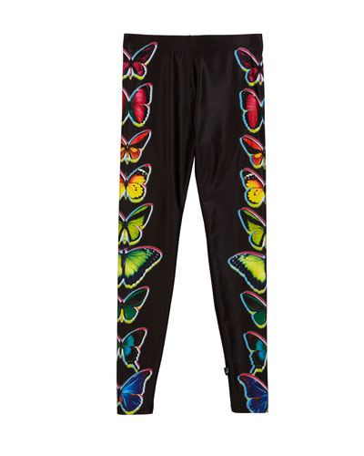Butterfly Print Leggings  Size 7-16