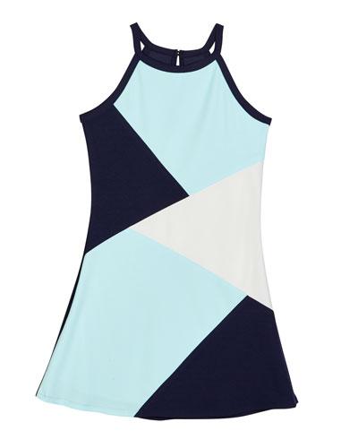 The South Beach Colorblock Techno Crepe Dress  Size S-XL