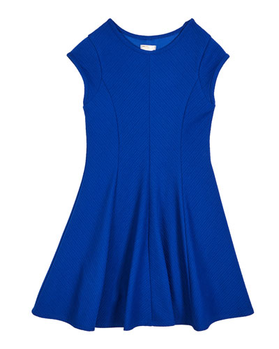 The Allie Textured Knit Short-Sleeve Dress  Size S-XL
