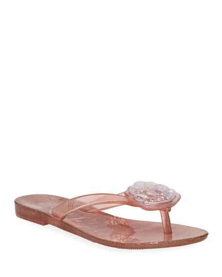 Mini Melissa Harmonic V Seashell Thong Sandal, Toddler/Kids