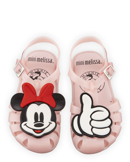 Mini Melissa Mini Aranha Mickey & Friends Cutout Sandal, Baby/Toddler/Kids
