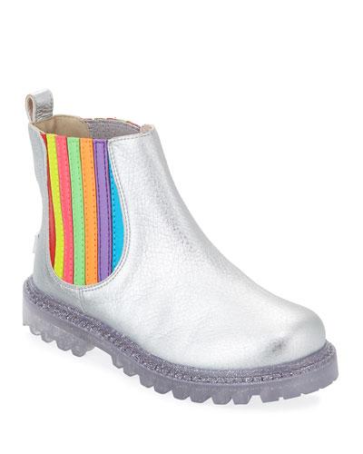 Lara Rainbow Metallic Leather Boots  Baby/Toddler/Kids