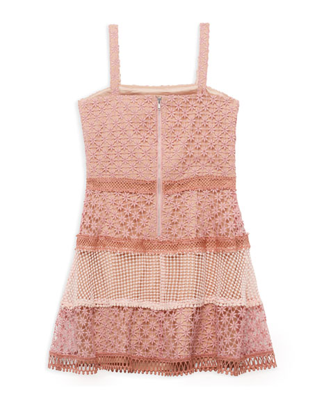 Image 3 of 3: Bardot Junior Kristen Multi Lace Dress, Size 8-16