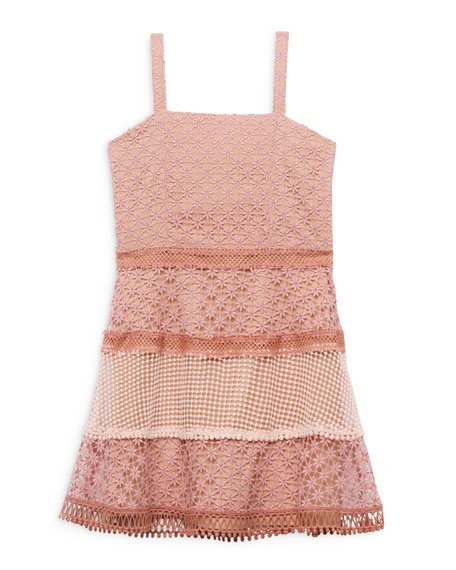 Image 1 of 3: Bardot Junior Kristen Multi Lace Dress, Size 8-16