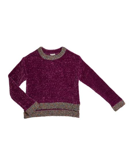 Habitual Cassidy Chenille Sweater w/ Metallic Lurex Trim, Size 7-14