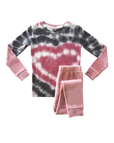 Girl's Heart Tie Dye Sleep Set  Size 2-14