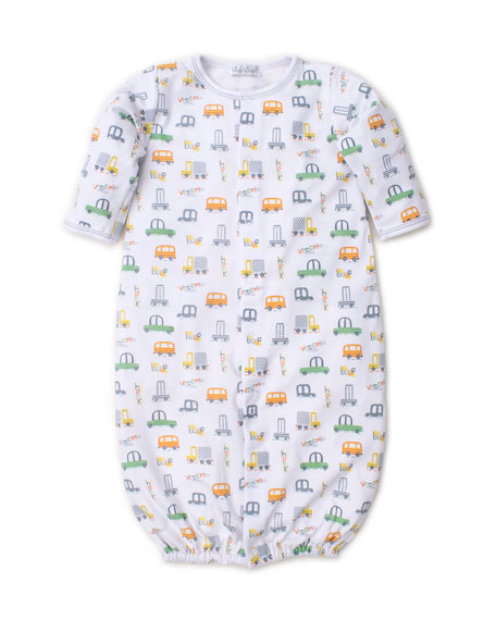 Kissy Kissy Wild Wheels Pima Convertible Gown, Size Newborn-S