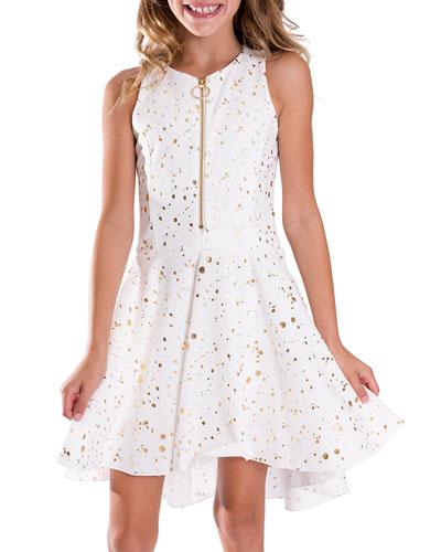 Ally Stretch-Knit Dress  Size 7-16