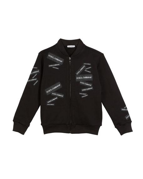 Dolce & Gabbana Logo Patch Bomber Jacket, Size 4-6