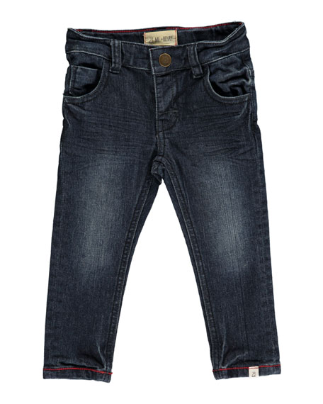 Image 1 of 2: Me & Henry Slim Fit Denim Jeans w/ Children's Book, Size 6-24 Months