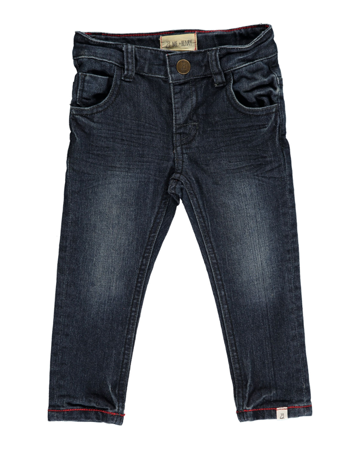 Me & Henry Slim Fit Denim Jeans w/ Children's Book, Size 6-24 Months