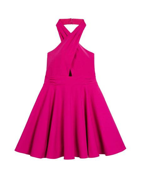 Milly Minis Sydney Cady Halter Dress, Size 7-16