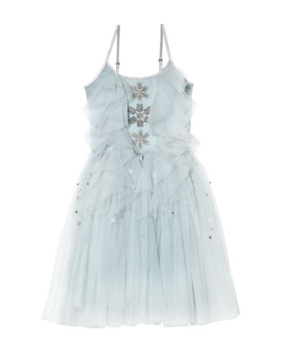 Girl's Frosted Skies Tutu Dress  Size 2T-11