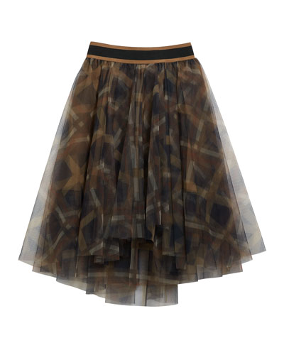 Girl's Printed Tulle A-Line Skirt  Size 6