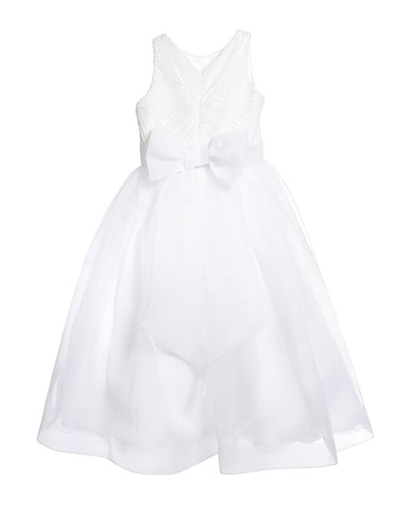 Image 3 of 3: White Label by Zoe Girl's Maryann Sequin Organza Dress, Size 6-12