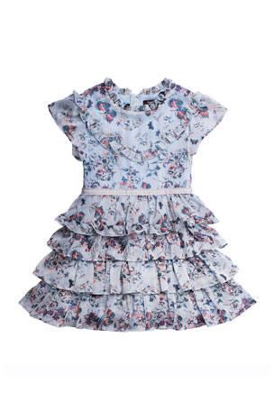 Imoga Girl's Serenity Floral-Print Tiered Dress, Size 2-6