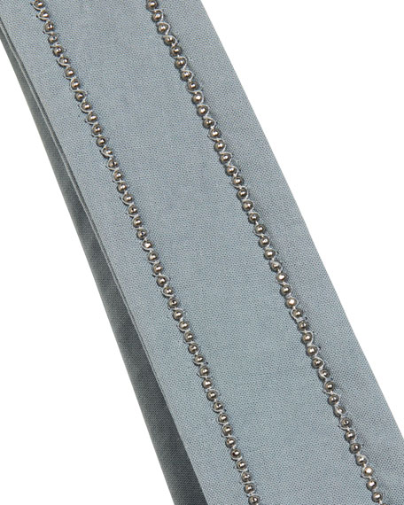Brunello Cucinelli Girl's One-Shoulder Ruffle Top, Size 12-14