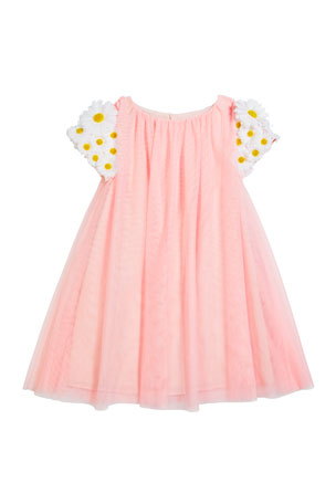 Charabia Girl's Tulle 3D Butterfly Dress, Size 4-5
