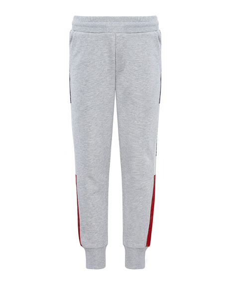 Moncler Boy's Logo Tape Sweatpants, Size 8-14