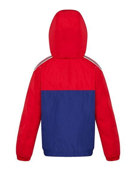 Moncler Boy's Gittaz Two-Tone Logo Tape Jacket, Size 8-14