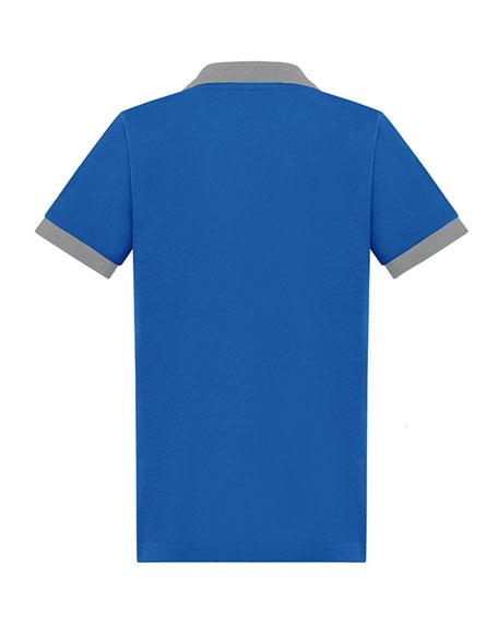 Moncler Boy's Two-Tone Piquet Polo Shirt, Size 8-14
