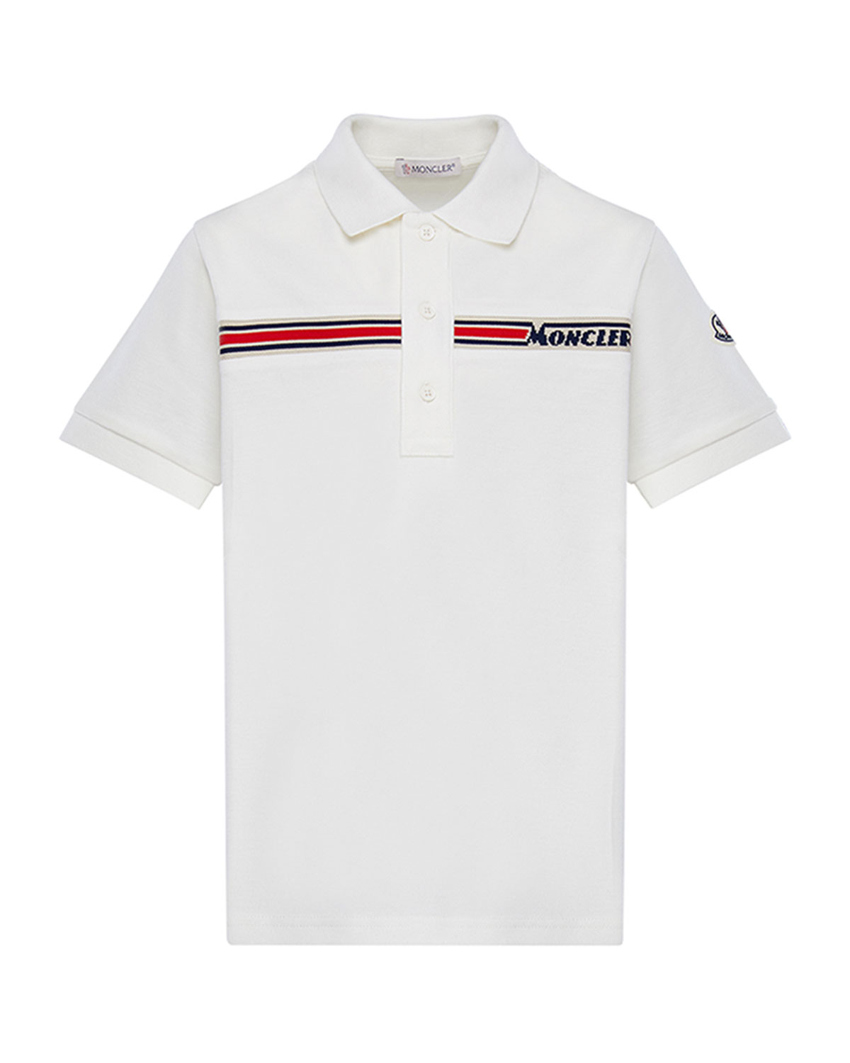 Moncler Boy's Short-Sleeve Logo Polo Shirt, Size 8-14