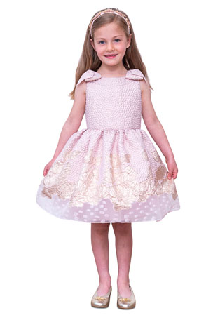 Fabal Fashion Girls Kids Princess Flower Denim Tulle dress Sleeve Summer Dress