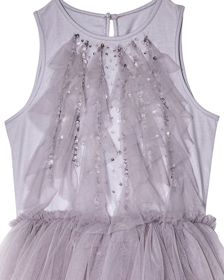 Image 2 of 4: Tutu Du Monde Girl's Fly Away Sequin Tulle Dress, Size 2-11