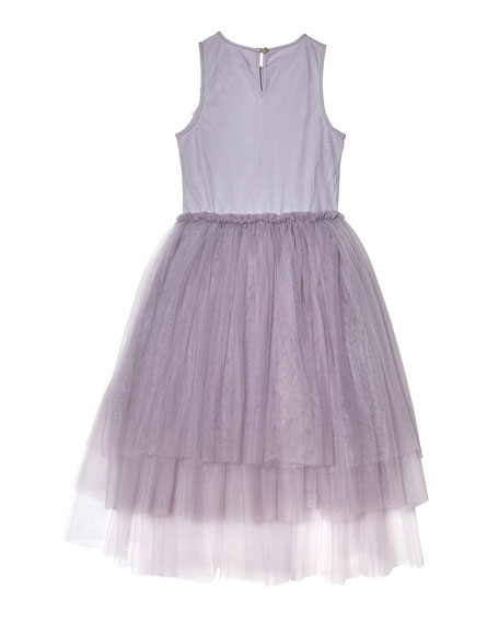 Image 3 of 4: Tutu Du Monde Girl's Fly Away Sequin Tulle Dress, Size 2-11