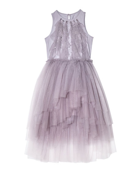 Image 1 of 4: Tutu Du Monde Girl's Fly Away Sequin Tulle Dress, Size 2-11