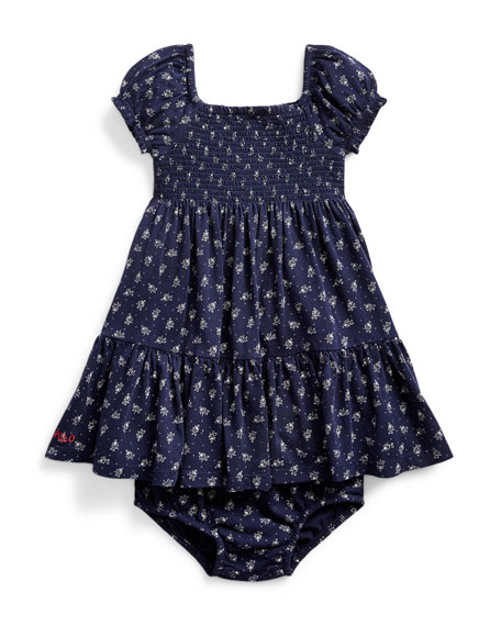 Image 1 of 2: Ralph Lauren Childrenswear Smocked Floral Dress w/ Bloomers, Size 9-24 Months
