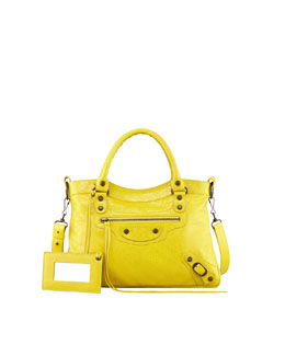 Balenciaga Classic Town Tote Bag, Curry