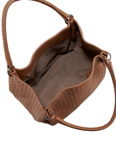 East-West Hobo Bag, Hazelnut Brown