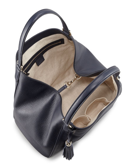 Soho Medium Shoulder Bag, Dark Navy